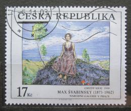 Poštovní známka Èeská republika 2003 Umìní, Max Švabinský Mi# 382