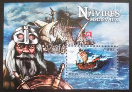 Poštovní známka Burundi 2012 Støedovìké plachetnice Mi# Block 296 Kat 9€