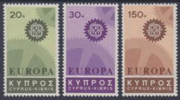 Poštovní známky Kypr 1967 Evropa CEPT Mi# 292-94 Kat 6€