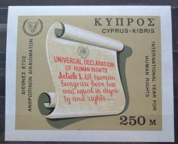 Poštovní známka Kypr 1968 Mezinárodní rok lidských práv Mi# Block 6