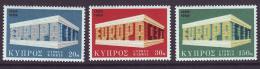 Poštovní známky Kypr 1969 Evropa CEPT Mi# 319-21 Kat 5€