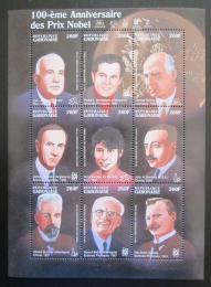 Poštovní známky Gabon 1995 Nositelé Nobelovy ceny Mi# 1263-71 Kat 14€