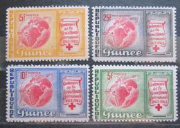 Poštovní známky Guinea 1963 Mezinárodní èervený køíž, 100. výroèí Mi# 204-07
