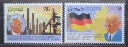Poštovní známky Grenada 1992 Konrad Adenauer Mi# 2509-10 Kat 9€