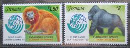 Poštovní známky Grenada 1992 Opice Mi# 2512-13 Kat 6€