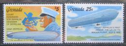 Poštovní známky Grenada 1992 Ferdinand Zeppelin, vzducholodì Mi# 2501-02 Kat 12€