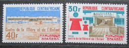 Poštovní známky SAR 1974 Dìtské centrum Catherine Bokassa Mi# 349-50