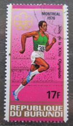 Poštovní známka Burundi 1976 LOH Montreal, sprint Mi# 1265
