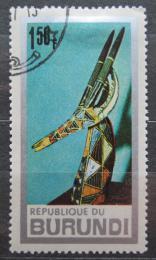 Poštovní známka Burundi 1967 Africké umìní Mi# 337