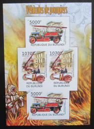 Poštovní známky Burundi 2012 Hasiči DELUXE neperf. Mi# 2422,2424 B Block - zvětšit obrázek