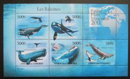 Poštovní známky Komory 2011 Velryby Mi# 3063-67 Bogen Kat 12€