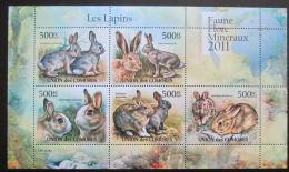 Poštovní známky Komory 2011 Králíci Mi# 3048-52 Bogen Kat 12€