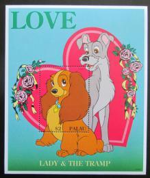 Poštovní známka Palau 1996 Disney, Susi a Strolch Mi# Block 41