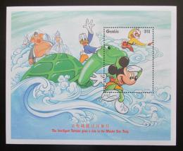 Poštovní známka Gambie 1997 Disney, Mickey Mouse Mi# Block 328