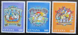 Poštovní známky Guyana 1996 Disney, Mickey Mouse Mi# 5635-37