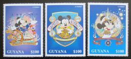 Poštovní známky Guyana 1996 Disney, Mickey Mouse Mi# 5638-40 Kat 6€