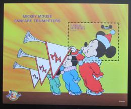 Poštovní známka Svatý Vincenc 1998 Disney, Mickey Mouse Mi# Block 451