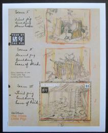 Poštovní známka Svatý Vincenc 1995 Disney, rok prasete Mi# Block 329