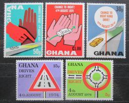 Poštovní známky Ghana 1974 Øízení vpravo Mi# 572-76