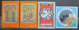 Poštovní známky Ghana 1974 Vánoce Mi# 589-92