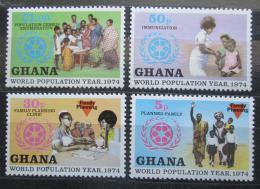 Poštovní známky Ghana 1974 Svìtový rok populace Mi# 577-80
