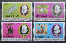 Poštovní známky Ghana 1976 Telefon, 100. výroèí Mi# 662-65