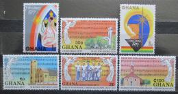Poštovní známky Ghana 1977 Vánoce Mi# 718-23