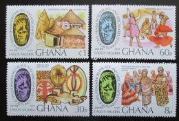 Poštovní známky Ghana 1977 Festval africké kultury a umìní Mi# 678-81 Kat 6€