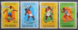 Poštovní známky Ghana 1977 LOH Montreal pøetisk Mi# 686-89