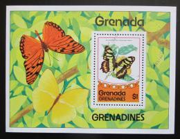 Poštovní známka Grenada Gren. 1975 Motýli Mi# Block 10 Kat 5€