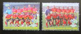 Poštovní známky Angola 2006 MS ve fotbale Mi# 1765-66 Kat 10€