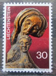 Poštovní známka Lichtenštejnsko 1970 Vánoce, døevoøezba, Rudolf Schädler Mi# 532