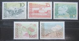 Poštovní známky Lichtenštejnsko 1972 Místní krajina Mi# 573-77 Kat 7€