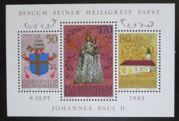 Poštovní známky Lichtenštejnsko 1985 Návštìva papeže Mi# Block 12 Kat 5.50€