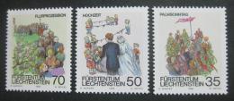 Poštovní známky Lichtenštejnsko 1986 Jarní slavnosti Mi# 899-901