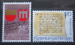 Poštovní známky Lichtenštejnsko 1987 Výroèí Mi# 928-29 Kat 5€
