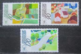 Poštovní známky Lichtenštejnsko 1988 Kampaò pro venkov Mi# 939-41 Kat 5.50€