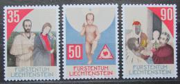 Poštovní známky Lichtenštejnsko 1988 Vánoce Mi# 954-56