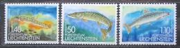 Poštovní známky Lichtenštejnsko 1989 Ryby Mi# 964-66