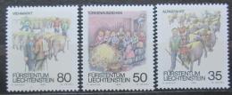 Poštovní známky Lichtenštejnsko 1989 Podzimní slavnosti Mi# 971-73