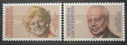 Poštovní známky Lichtenštejnsko 1990 Knížecí pár Mi# 988-89 Kat 8.50€