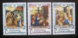 Poštovní známky Lichtenštejnsko 1990 Vánoce, umìní Mi# 1005-07