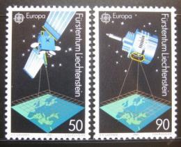 Poštovní známky Lichtenštejnsko 1991 Evropa CEPT, prùzlum vesmíru Mi# 1011-12