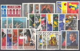Kompletní roèník Lichtenštejnsko 1984 Mi# 837-65 Kat 37.50€
