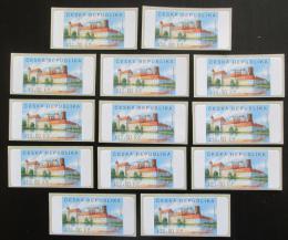 Poštovní známky Èeská republika 2005 Zámek Jindøichùv Hradec ATM známky Mi# 3