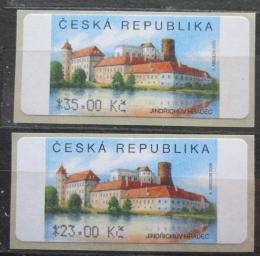 Poštovní známky Èeská republika 2007 Zámek Jindøichùv Hradec ATM známky Mi# 3