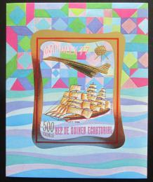 Poštovní známka Rovníková Guinea 1977 Výstava AMPHILEX Mi# Block 266 B Kat 20€