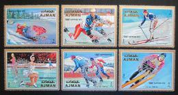 Poštovní známky Adžmán 1971 ZOH Sapporo, pøetisk Rotary Mi# 1141-46