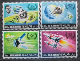 Poštovní známky Rás al-Chajma 1969 Prùzkum vesmíru Mi# 317-20 Kat 7€
