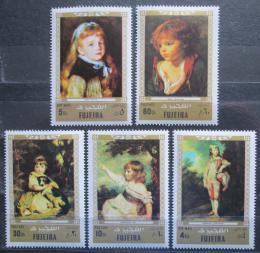 Poštovní známky Fudžajra 1972 Umìní Mi# 858-62 Kat 6€